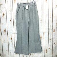 Nordstrom Codexmode Gray Pintuck Cropped Flare Sweatpants Women's Size M Medium