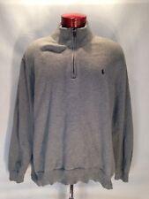E367 Men's Polo Ralph Lauren 1/4 Zip Pullover Sweater Gray Size 4XB Big