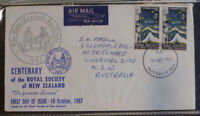1967 NEW ZEALAND CENTENARY OF ROYAL SOCIETY FDC FIRST DAY COVER