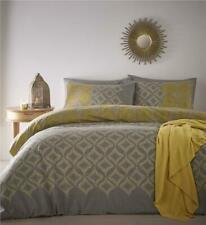 Moroccan duvet set ochre & grey quilt cover & pillow cases bedding