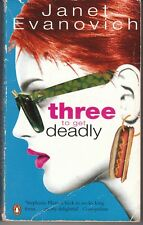 Three to Get Deadly by Janet Evanovich (Paperback, 1997) AUST SELLER FAST POST!!
