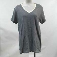 Obey Women's Boyfriend V-Neck Pocket T-Shirt Sampson Navy/White Size M NEW