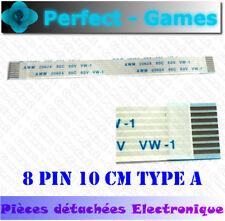 Nappe ruban flat cable flex ribbon FFC 8 pin 100 mm 10 cm 1 pitch type A