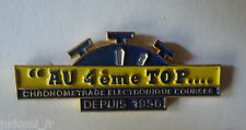 Pin's pin CHRONO - AU 4 eme TOP - CHRONOMETRE COURSE DEPUIS 1956  (ref L08)