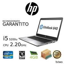 HP EliteBook Notebook 745 i5 5300U 2.30GHz 500 HDD 4gb Ram Ricondizionato