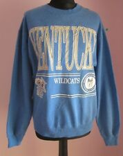 VTG Ladies HANES KENTUCKY WILDCATS Blue Crew Neck Polycotton Sweatshirt Size L