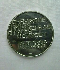 Medaille Chemische Fabrik Dr Kolb AG 1964-1974 Silber Schweiz