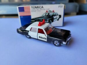 TOMICA F51 - CADILLAC POLICE CAR [BLACK] MINT VHTF BOX GREAT JAPAN