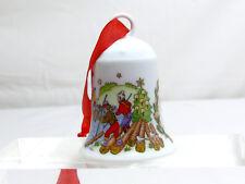 HUTSCHENREUTHER cloche de Noël 1998 Porcelaine Pays Chevron emballage d'origine