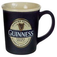 Guinness Label Black Ceramic Round Mug Matte Finish Embossed Large Mug 16 fl oz