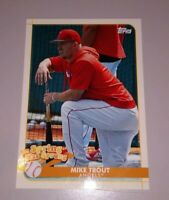 MIKE TROUT SPRING HAS SPRUNG INSERT 2020 TOPPS OPENING DAY ANAHEIM ANGELS