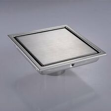 SUS304 Stainless Steel 15cm Square Shower Floor Drain with Tile Insert Grate