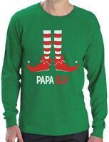 Papa Elf - Funny Christmas Gift for Dad / Grandpa Long Sleeve T-Shirt Santa's