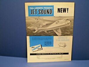 """LINDBERG 1966 """" F-8A Crusader with jet sound """" single sided dealer sales flyer"""