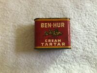 ANTIQUE BEN-HUR CREAM TARTAR SPICE TIN LITHO CAN HORSE CHARIOT RACE GROCERY OLD