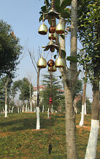 Amazing 6 Bells Alloy Wind chimes Yard Garden Outdoor Living Wind Chimes 21.5''