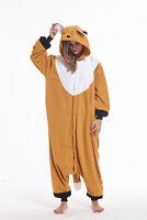 Women Men Unisex Adult Onesie0 Animal Fox Kigurumi Pajama Cosplay Costume