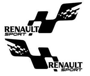 "2 x Renault Sport style vinyl stickers decals Clio Megane custom SPORT CUP 10"""