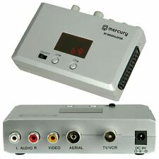 MERCURY UNIVERSALE Modulatore RF CONVERTITORE SCART COASSIALE CCTV Aerial TV VIDEO