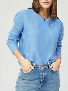 New Womens Brave Soul Crew Neck Knitted Jumper - Blue - Sz S/M RRP- £25.00