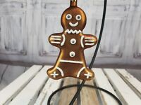 Light Brown Ginger Bread Cookie Ornament Christmas Tree Decoration Xmas AS IS