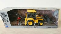 Volvo Backhoe BL71 Digger Sounds & Light Scale Model 1:18 Kids Toy NEW
