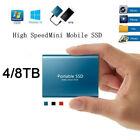 USB 3.1 External SSD Hard Drive Disk High Speed Solid State 1TB 2TB 4TB