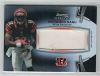2012 MOHAMED SANU BOWMAN STERLING JUMBO ROOKIE RELIC 2 CLR PATCH #/75 REFRACTOR