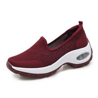 Platform Women Shoes Breathable Mesh Thick Heel Casual Running Shoes Sneakers