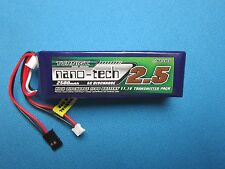 NANO-TECH 2500mAh 3S 11.1V 5-10C LIPO BATTERY Tx JR FUTABA 7C 9C TURNIGY 9X 9XR