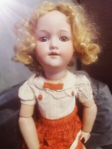"""Antique bisque armand marseille doll Germany moving eyes original clothing 28"""""""