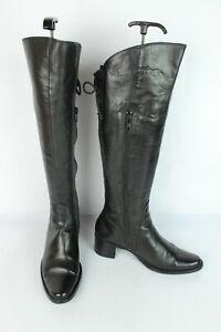 Bottes Baxxo cuir noir lacet + zip TRES BON ETAT