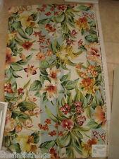 "Bailey & Griffin Seychelles Striped Floral Designer Fabric Sample Webb 27"" x 44"""