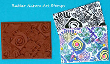 ATC Artist Trading Card Size Unmounted Rubber Stamp - For Stamping Paper & Clay