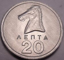 Gem Unc Greece 1976 20 Lepta~1st Year Ever Minted~Horse Head~Free Shipping