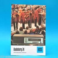 Radeberg 74 Volltrans. Heimsuper 1975 Folleto Publicidad Dewag DDR Radio R123 C