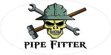 3 - Pipe Fitter Skull Oilfield Roughneck Hard Hat Helmet Sticker H317