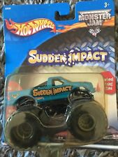Very Rare Sudden Impact Monster Jam Truck 2001 Hot Wheels Never Opened!