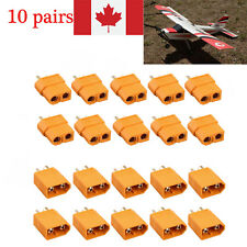 10 Pairs XT60 Bullet Connectors Plugs Male + Female For RC LiPo Battery CA Stock