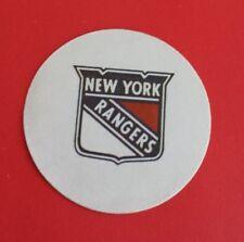 Vintage NHL Becker's New York Rangers 3'' Cloth Sticker