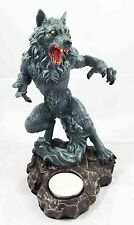 Werewolf Wolf Man Lycan Creature Candleholder Statue Tea Light Candle Decor