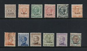 C142   Libya  1912/22   stamps of Italy SURCHARGED   SHORT-SET  12v.   MH/used