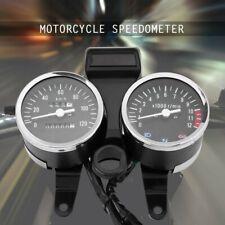 Motorcycle Dual Gauge Odometer LED Speedometer Tachometer for Suzuki GN125 New