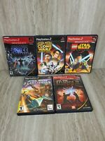 STAR WARS GAME BUNDLE Sith, Lego, Starfighter, Clone, (Playstation 2 PS2)
