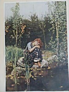 Vintage Art Print UNFRAME ARTIST poster rEADY TO FRAME dECOR /DISPLAY WALL