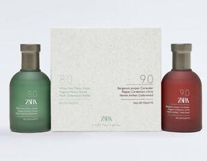 Zara 8.0 And 9.0 2 X 75ml Bottles Eau de Toilette EDT Boxed Sealed Set Brand New