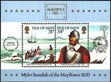 ISLE OF MAN 1986 MNH** MAYFLOWER MINISHEET VF AMERIPEX '86