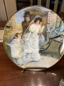 "Vintage Collector Plate JACQUELINE by ROB SAUBER ""PORTRAITS OF AMERICAN BRIDES"""