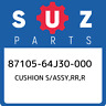 87105-64J30-000 Suzuki Cushion s/assy,rr,r 8710564J30000, New Genuine OEM Part