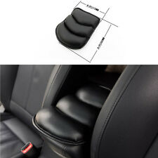 One Black PU Leather Auto Console Central Armrest Soft Pad Cushion Mat Universal